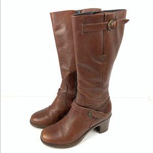 Dansko brown Nevada boot zip up leather tall 37